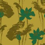 Nahtloses Muster mit Lotosblumen Vektor auf Lager Stockfotos
