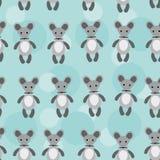 Nahtloses Muster mit lustigem nettem Mäusetier auf a Lizenzfreie Stockfotografie