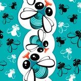 Nahtloses Muster mit lustigen Fliegen Lizenzfreies Stockbild