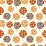 Nahtloses Muster mit Lutschern. Stock Abbildung