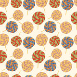 Nahtloses Muster mit Lutschern. Stockfotografie