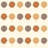 Nahtloses Muster mit Lutschern. Lizenzfreie Stockbilder