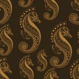Nahtloses Muster mit Meerestieren 2 Stockfotografie