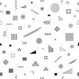 Nahtloses Muster mit Memphis-Art Lizenzfreie Stockfotos
