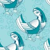 Nahtloses Muster mit mythologischem Vogel Die Reihe von mythologischen Geschöpfen Lizenzfreie Stockfotos