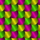 Nahtloses Muster mit Nachahmung von Metallskalen Stockbild
