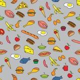 Nahtloses Muster mit Nahrung Stockfotos