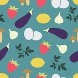 Nahtloses Muster mit Obst und Gemüse Lizenzfreie Stockbilder