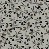 Nahtloses Muster mit Oliven im Grün Lizenzfreies Stockfoto