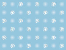 Nahtloses Muster mit OM-Zeichen Stockbilder