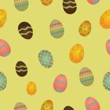 Nahtloses Muster mit Ostereiern Lizenzfreies Stockbild