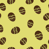 Nahtloses Muster mit Ostereiern Lizenzfreie Stockfotos