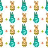 Nahtloses Muster mit Ostern bunny-10 Stockbilder