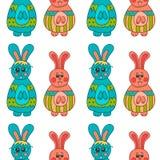 Nahtloses Muster mit Ostern bunny-11 Stockbilder