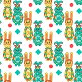 Nahtloses Muster mit Ostern bunny-13 Lizenzfreie Stockbilder