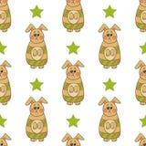 Nahtloses Muster mit Ostern bunny-2 Lizenzfreie Stockbilder