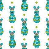 Nahtloses Muster mit Ostern bunny-4 Lizenzfreie Stockfotografie