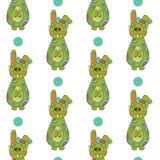 Nahtloses Muster mit Ostern bunny-6 Lizenzfreies Stockbild