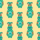 Nahtloses Muster mit Ostern bunny-7 Lizenzfreie Stockfotos