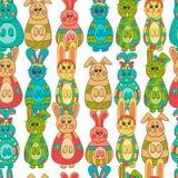 Nahtloses Muster mit Ostern bunny-9 Stockfotos