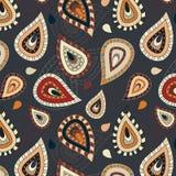 Nahtloses Muster mit Paisley-Verzierung Lizenzfreie Stockbilder