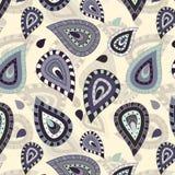Nahtloses Muster mit Paisley-Verzierung Lizenzfreies Stockfoto