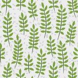 Nahtloses Muster mit Palmblättern Lizenzfreies Stockfoto