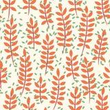 Nahtloses Muster mit Palmblättern Stockfotografie