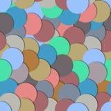 Nahtloses Muster mit Papierkreisen Stockfotos