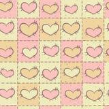 Nahtloses Muster mit Patchwork Stockbilder