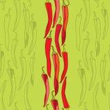 Nahtloses Muster mit Pfeffern des roten Paprikas Lizenzfreies Stockfoto