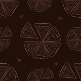 Nahtloses Muster mit Pizza Stockfoto