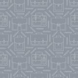 Nahtloses Muster mit Portfolios und Bleistiften Stockfotos