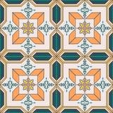 Nahtloses Muster mit portugiesischen Fliesen Azulejo Lizenzfreie Stockfotografie