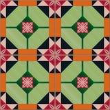 Nahtloses Muster mit portugiesischen Fliesen Azulejo Lizenzfreies Stockbild