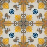 Nahtloses Muster mit portugiesischen Fliesen Azulejo Lizenzfreies Stockfoto