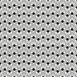 Nahtloses Muster mit Punkten und Dreiecken Stockfotos