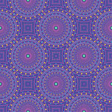 Nahtloses Muster mit punktierten Kreisen Vektor, der Beschaffenheit wiederholt Stilvoller Hintergrund Stockfotografie