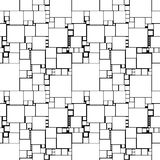 Nahtloses Muster mit Quadraten vektor abbildung