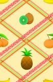 Nahtloses Muster mit reifen tropischen Früchten. Stockfotografie