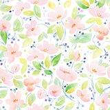 Nahtloses Muster mit reizenden rosa Blumen Lizenzfreie Stockbilder