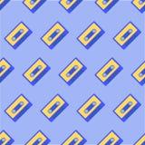 Nahtloses Muster mit Retro- Audiokassetten Stockfotografie