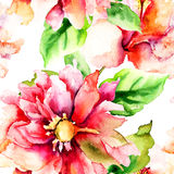 Nahtloses Muster mit romantischen Blumen Lizenzfreie Stockfotos