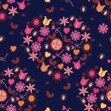 Nahtloses Muster mit romantischen Inneren Lizenzfreies Stockfoto