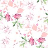 Nahtloses Muster mit rosa rose1-04 Stockbilder