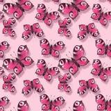 Nahtloses Muster mit rosa Schmetterlingen stock abbildung