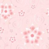 Nahtloses Muster mit rosafarbene Blumen Stockbild
