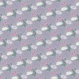 Nahtloses Muster mit rosafarbenen Blumen Lizenzfreie Stockfotos