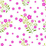 Nahtloses Muster mit rosafarbenen Blumen Stockfotografie