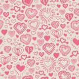 Nahtloses Muster mit rosafarbenen Inneren stockfotos